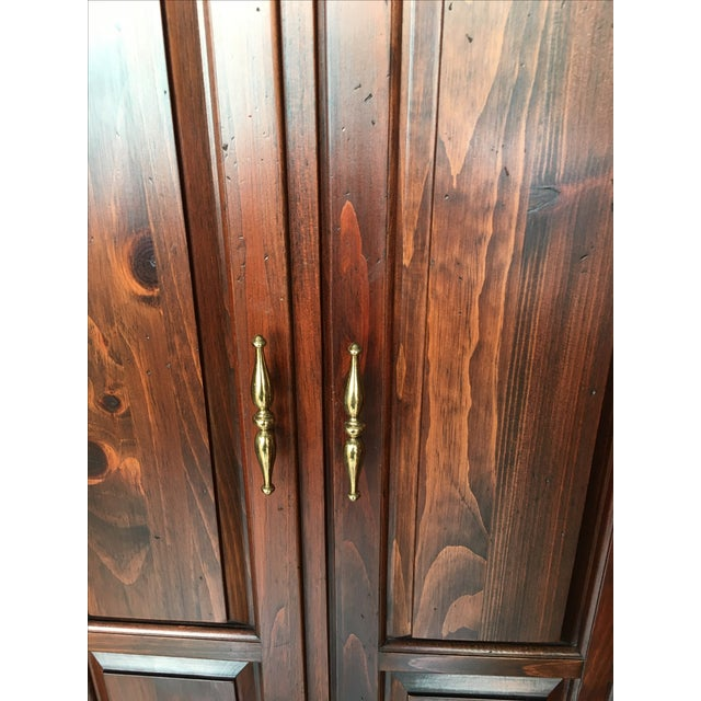Ethan Allen Mahogany Armoire - Image 10 of 11