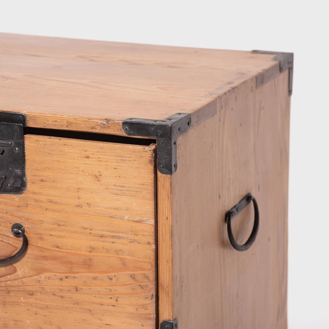 Early 20th Century Japanese Iron Bound Tansu For Sale - Image 9 of 11