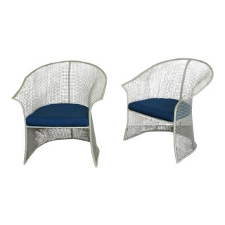 Woodard Mid-Century Garden Chairs - A Pair