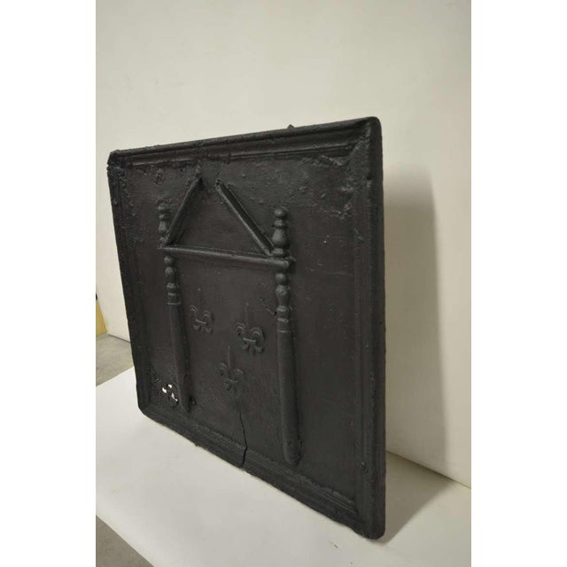 18th C. French Large Square Fireback For Sale - Image 4 of 9