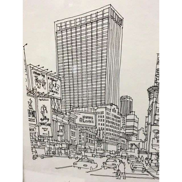 """1970s """"Times Square, NYC 1978"""" Signed and Numbered Line Drawing by Richard Welling For Sale - Image 5 of 10"""