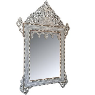 Syrian Hand Crafted Mother of Pearl Inlay Mirror