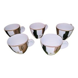 1950s Vintage Ochiai Japan Demitasse Cups-Set Of 5 For Sale
