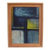 Image of Vintage Mid Century Modern Framed Original Painting For Sale