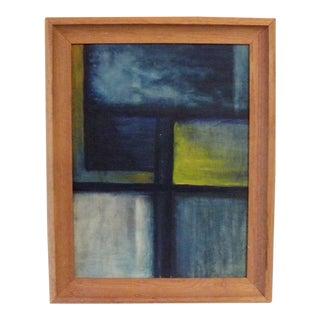 Vintage Mid Century Modern Framed Original Painting For Sale