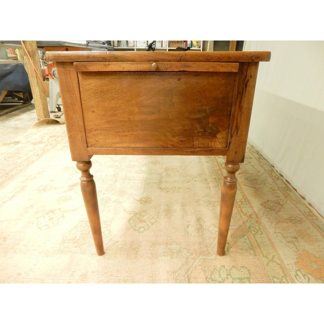Traditional 19th C. French Leather Top Desk For Sale - Image 3 of 12