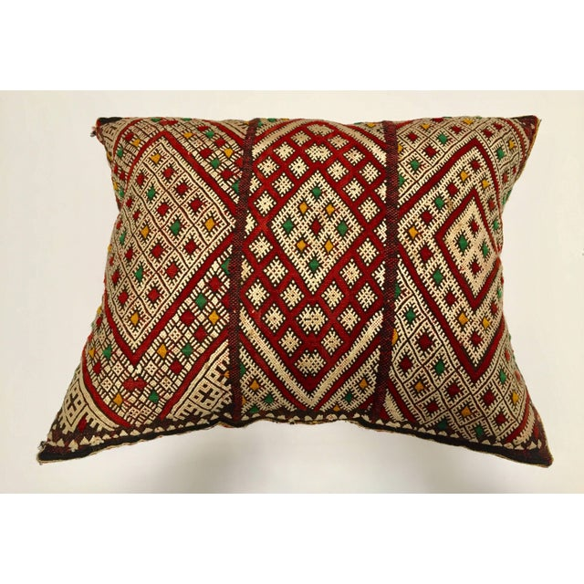 Moroccan Berber Pillow With Tribal African Designs For Sale - Image 4 of 10