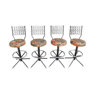 1950s Vintage John Salterini Stools- Set of 4 For Sale