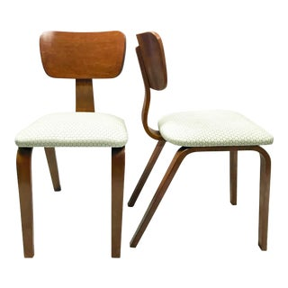 Joe Atkinson Maple Bent Plywood Chairs for Thonet - a Pair For Sale