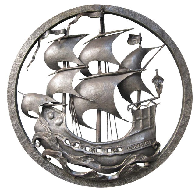 Hand-Forged Wrought Iron Spanish Galleon - Image 1 of 8