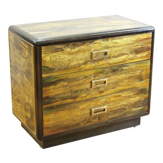 Bernard Rohne for Mastercraft Mid-Century Modern Acid Etched Chest For Sale