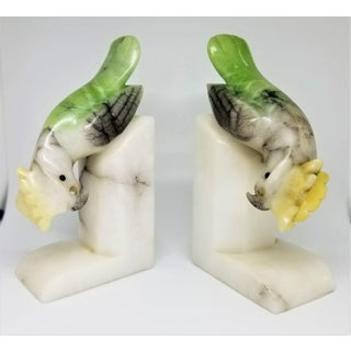 Parrot Bookends or Figurine Sculptures - Art Deco Italian Mid Century Modern Palm Beach Boho Chic Tropical Coastal Preview