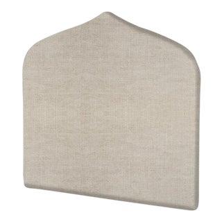 The Crown Headboard - Queen - Charlotte - Belgian Linen, Oatmeal For Sale