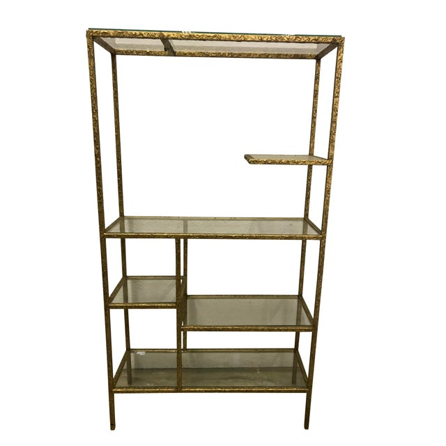 Mid-Century Modern Gilded Etagere For Sale - Image 3 of 5