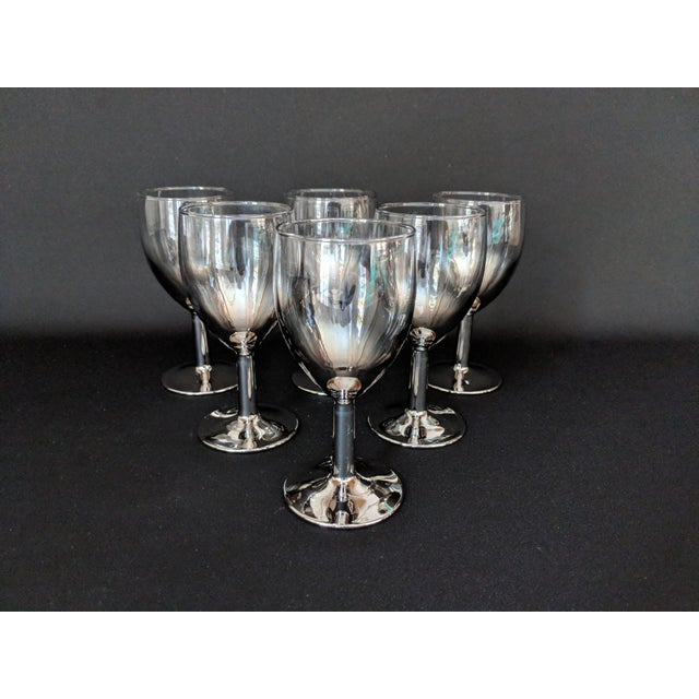 1960s Lusterware Silver Ombre Glasses - Set of 6 For Sale - Image 5 of 13