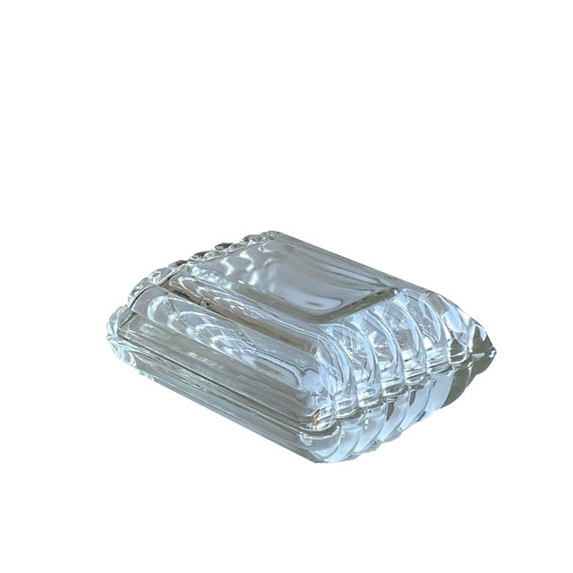 Mid Century Ribbed Glass Box For Sale In Dallas - Image 6 of 8