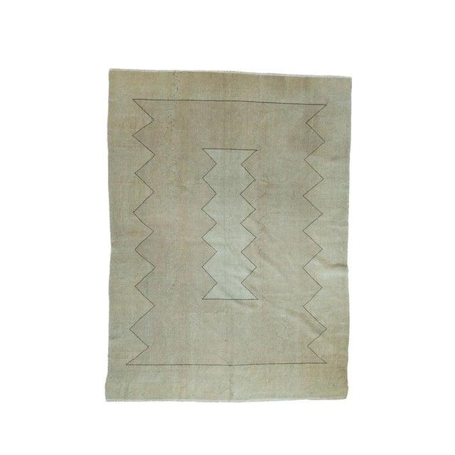 "Vintage Turkish Oushak Carpet - 5'10"" x 7'10"" For Sale"