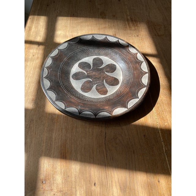 Folk Art Late 20th Century Terracotta Decorative Plate For Sale - Image 3 of 10
