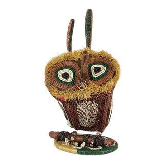 Vintage Handmade Woven Owl For Sale