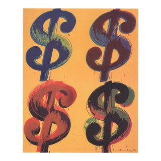 Andy Warhol_Four Dollar Sign_2000_Offset Lithograph For Sale