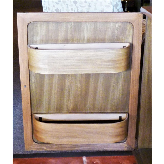 Edward Wormley Late 1940s Edward Wornmley for Drexel Precedent Line Silver Elm Dry Bar Cabinet For Sale - Image 4 of 12
