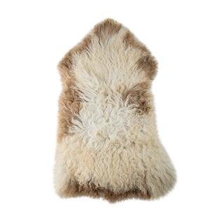 Contemporary Long Soft Wool Sheepskin Pelt Rug - 2′4″ × 3′10″ For Sale
