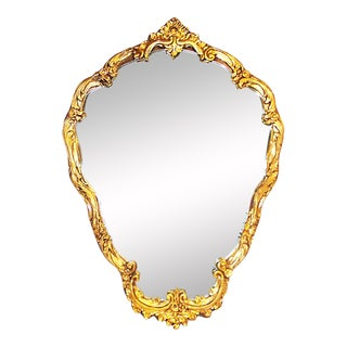 Gilt Pear-Shaped Mirror For Sale
