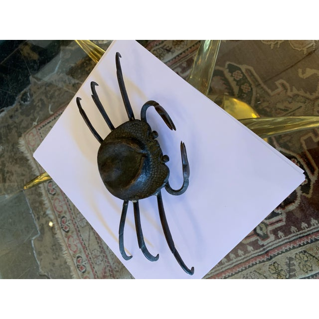 Bronze 1970s Vintage Crab Sculpture For Sale - Image 8 of 11