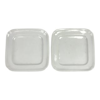 French White Ironstone Platters - A Pair For Sale