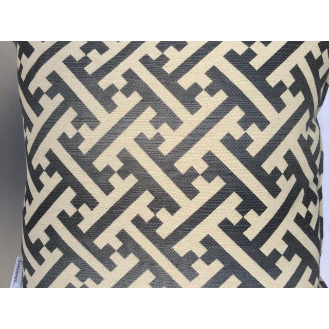 Modern Contemporary Graphic Pattern Pillows - a Pair - Image 7 of 7