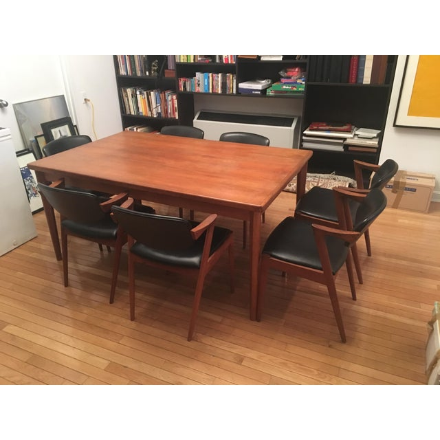 Brown Brdr Furo Danish Dining Table & Kai Kristiansen Teak Chairs - Set of 8 For Sale - Image 8 of 10
