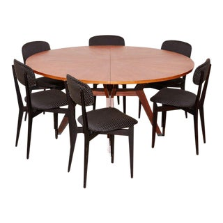 Vintage 1960s Ico Parisi Dining Table and Chairs Set For Sale
