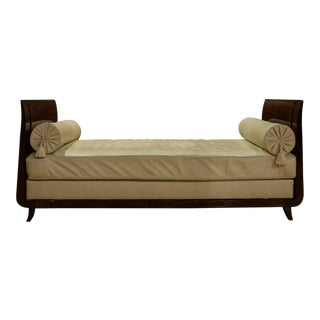 French Macassar Wood Day Bed For Sale