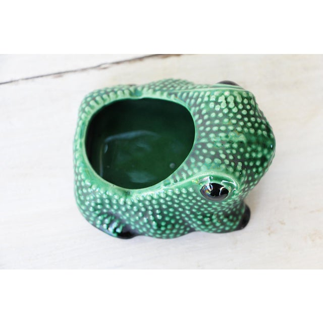 Chinese Vintage Hobnail Frog Planter in the Style of Jean Roger For Sale - Image 9 of 13