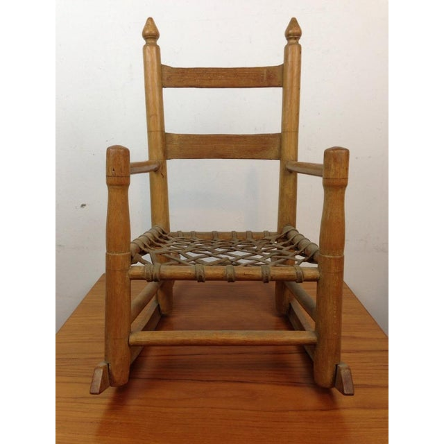 Vintage Carved Oak Rocking Chair - Image 2 of 5