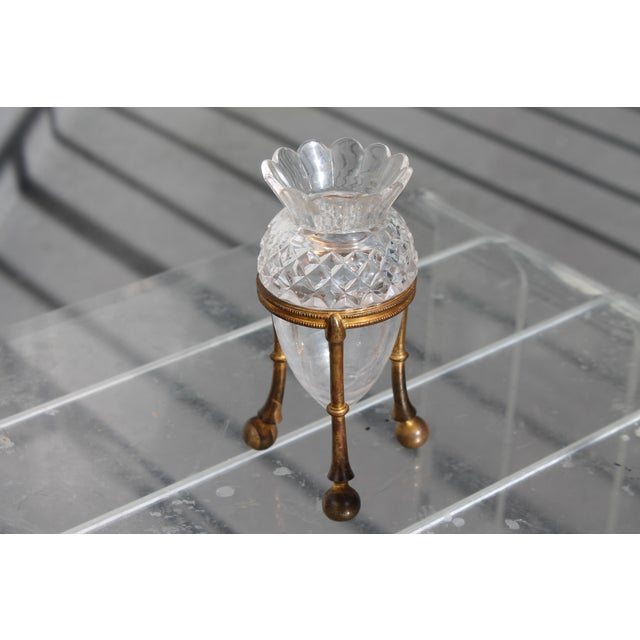 19th Century Famed Glass House F. & C. Osler Gilt Bronze Cut Crystal Epergne For Sale - Image 11 of 11
