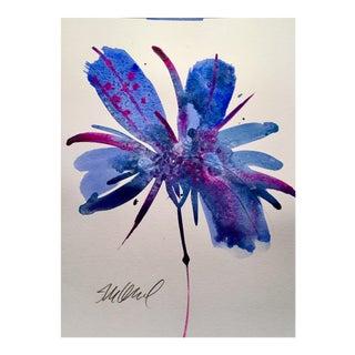 """Botanical Blue 1"" Original Watercolor For Sale"