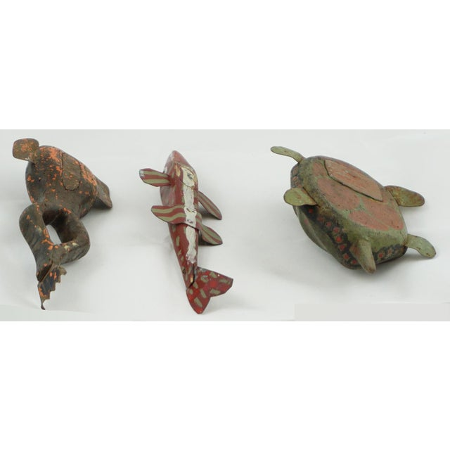 1950s Hand Painted Folk Art Ice Fishing Decoys For Sale - Image 5 of 9
