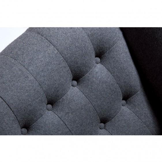 Replica Hans Wegner Style Gray Papa Bear Chair - Image 5 of 5