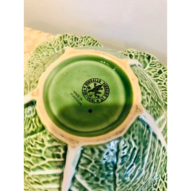 1990s Majolica Cauliflower and Cabbage Design Soup Tureen For Sale - Image 5 of 8