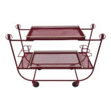 Image of Mathieu Mategot & Jean Royere Bar Cart For Sale