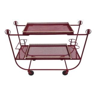 Mathieu Mategot & Jean Royere Bar Cart For Sale
