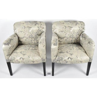 """Stunning Pair of Angelo Donghia """"Norway"""" Club Chairs in Donghia """"Edith"""" Fabric Preview"""