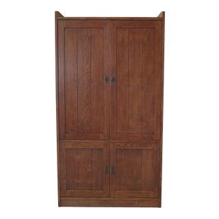 Stickley Mission Oak Arts & Crafts Tv Wardrobe Cabinet For Sale