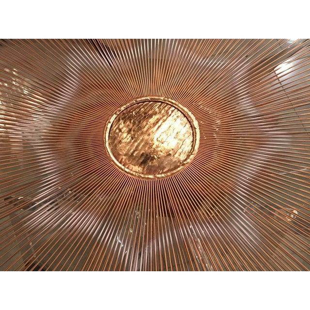 Mid 20th Century Mixed Metal Sunburst Brutalist Wall Hanging Signed Devalf For Sale - Image 5 of 9
