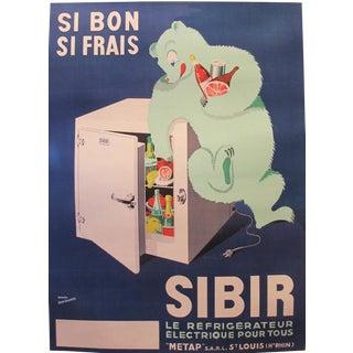 1930s Original French Art Deco Poster, Frigo Sibir For Sale