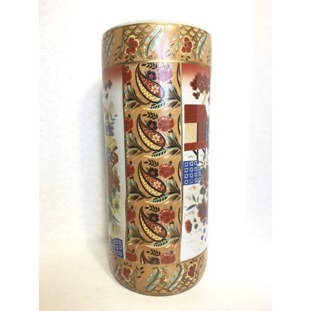 Asian Inspired Umbrella Stand or Vase - Image 3 of 5