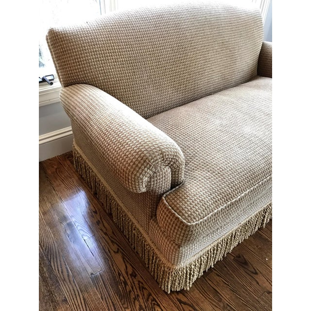 Brunschwig & Fils Oxford Gold Chenille Fabric Sofa & Loveseat - A Pair For Sale - Image 11 of 13