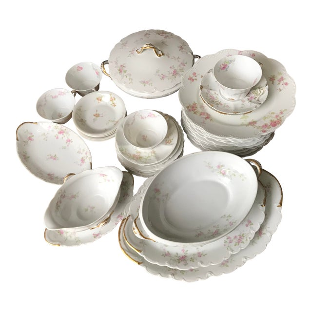 Antique , Rare Theodore Haviland Limoges France Partial Set 34 Pieces, Dinnerware For Sale