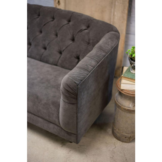 Charcoal Tufted Vintage Sofa - Image 6 of 10